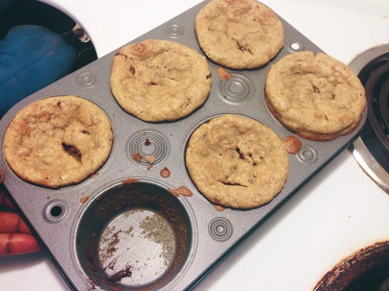 Creamy Cheese Choco-Banana Muffins
